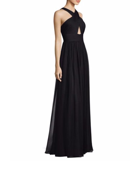 black halter gown