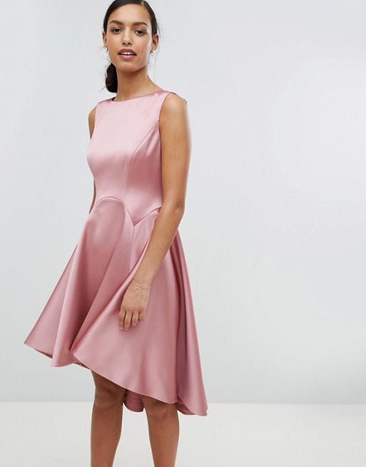 pink silk gown