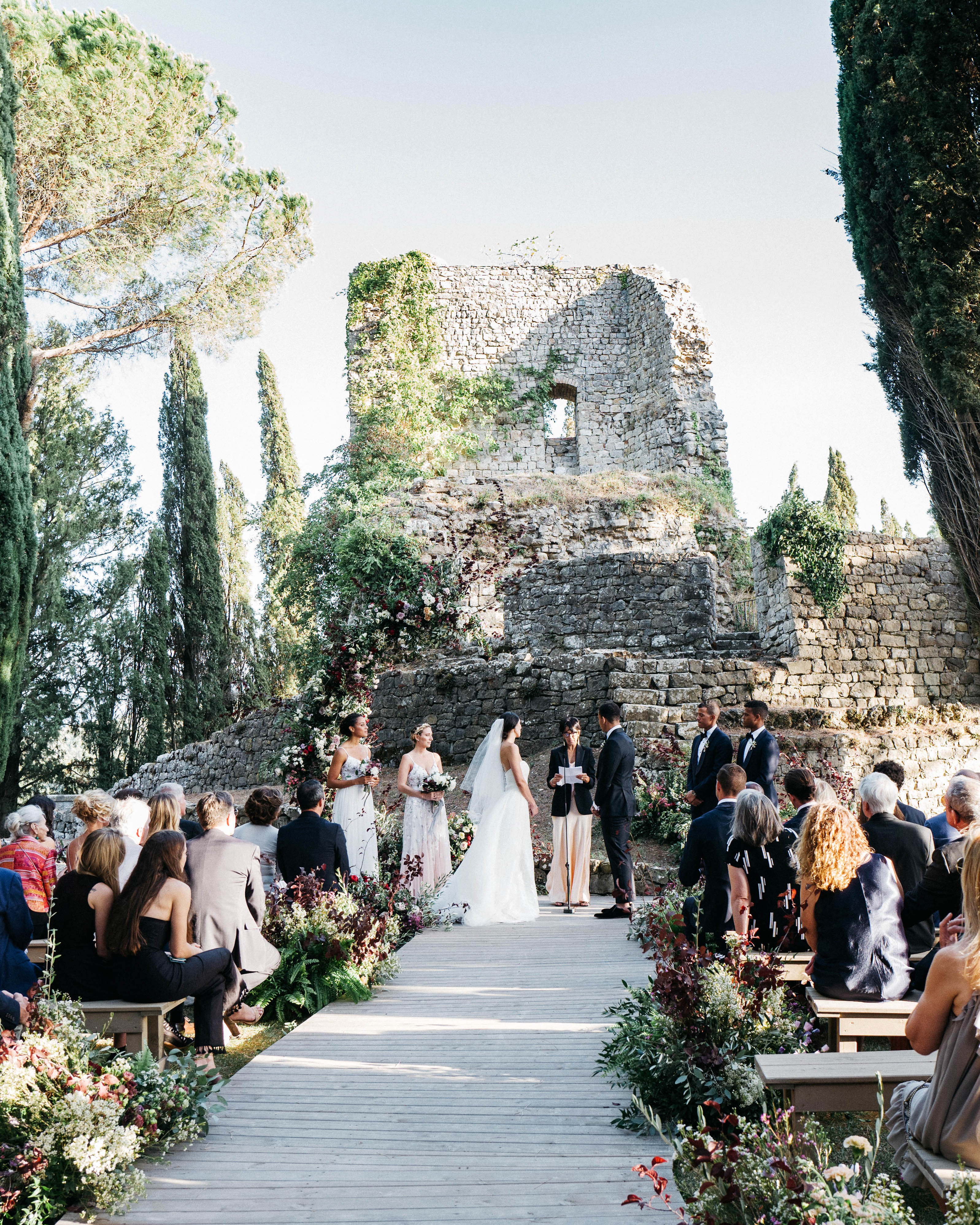sara sam italy wedding ceremony