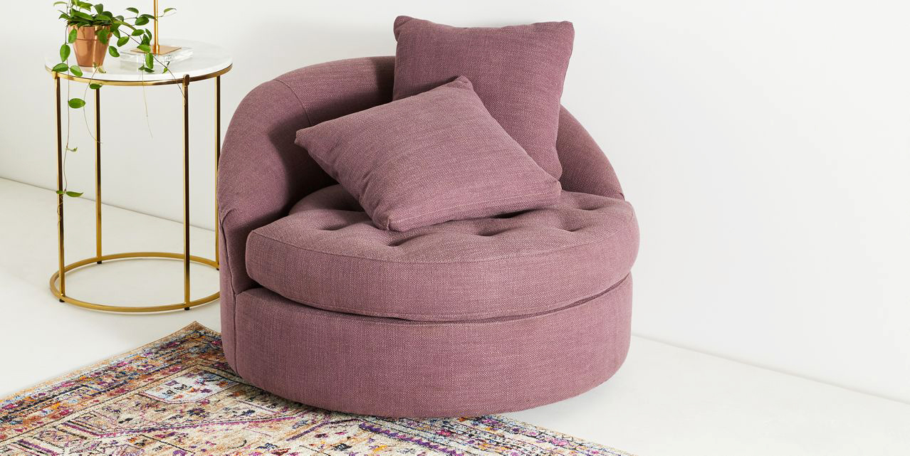 furniture anniversary gift swivel chair pink purple