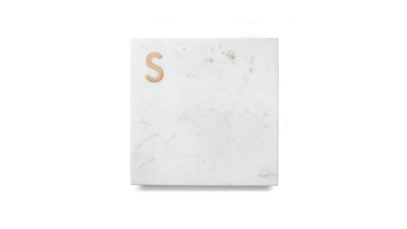 personalized engagement gift monogrammed cutting board