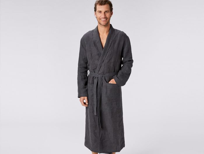 Linen Wedding Anniversary Gifts, Line Robe