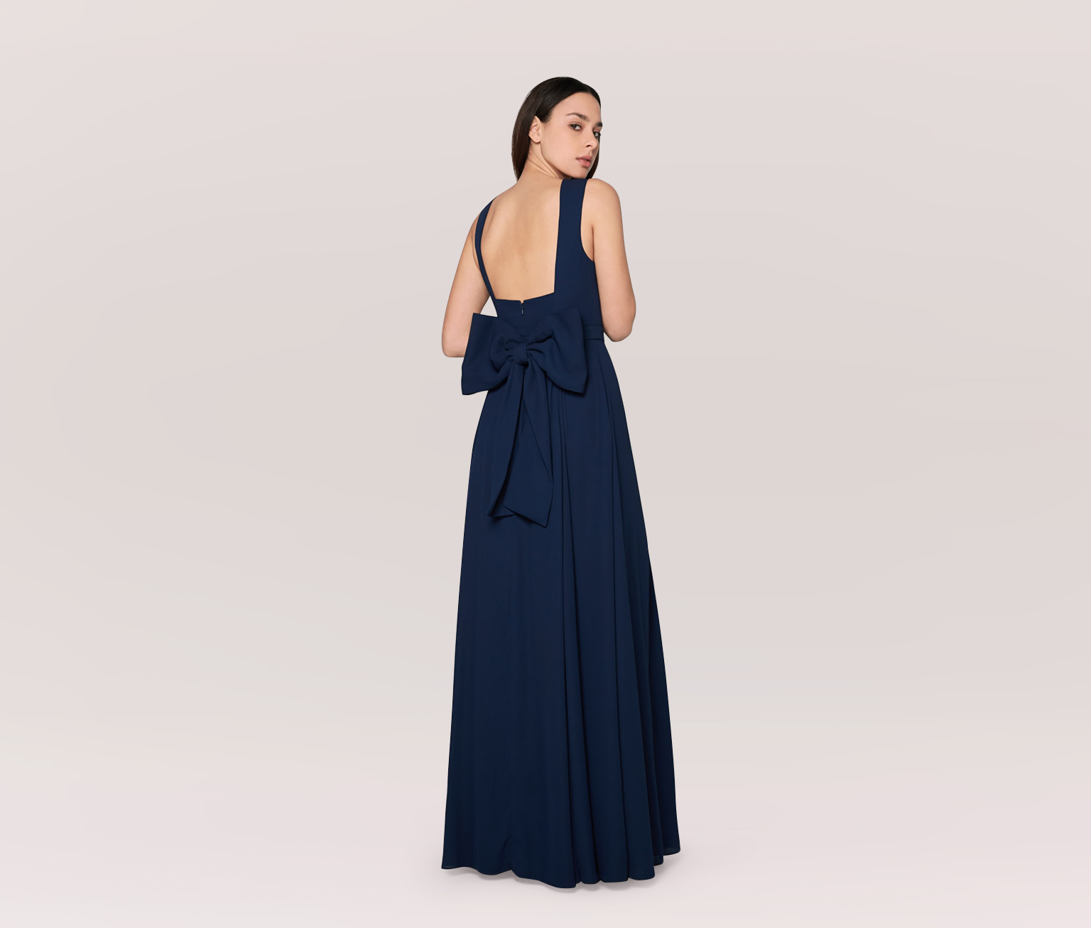 Navy Mother of the Bride Dresses, Fame and Partners Dress with Bow Back