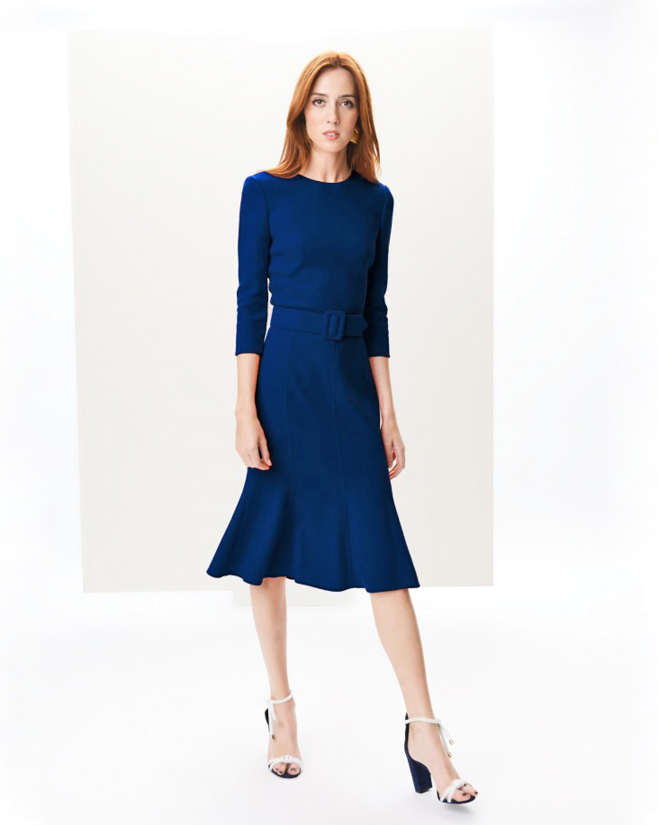 Oscar de la Renta Wool Crepe Dress