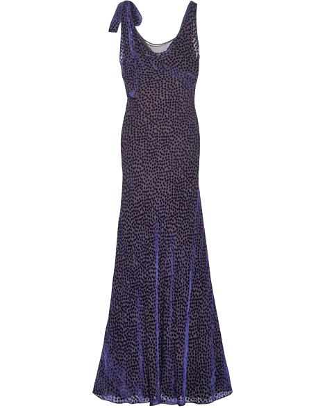 Diane von Furstenberg Velvet and Chiffon Gown