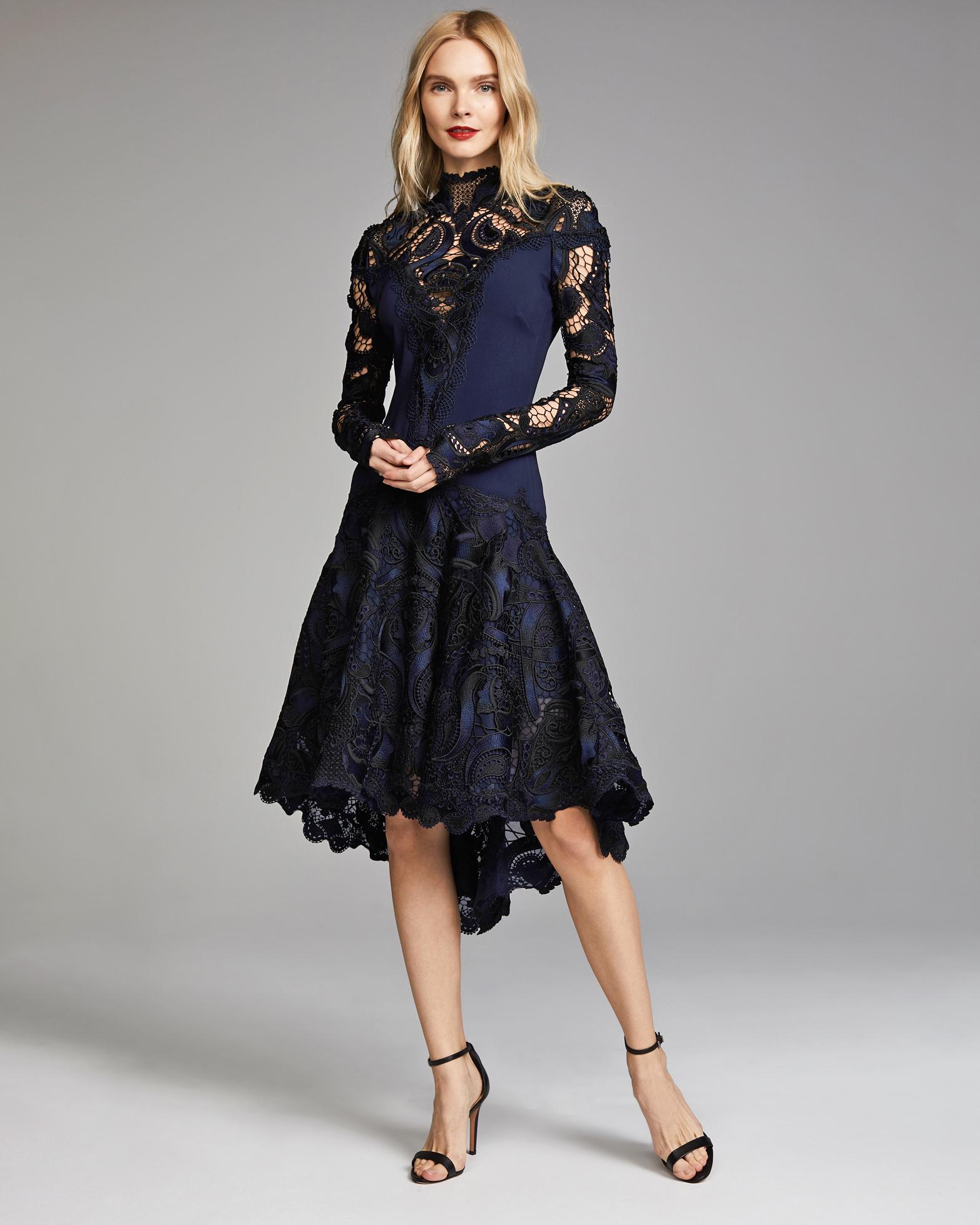 Jonathan Simkhai Appliqued Long Sleeve Dress