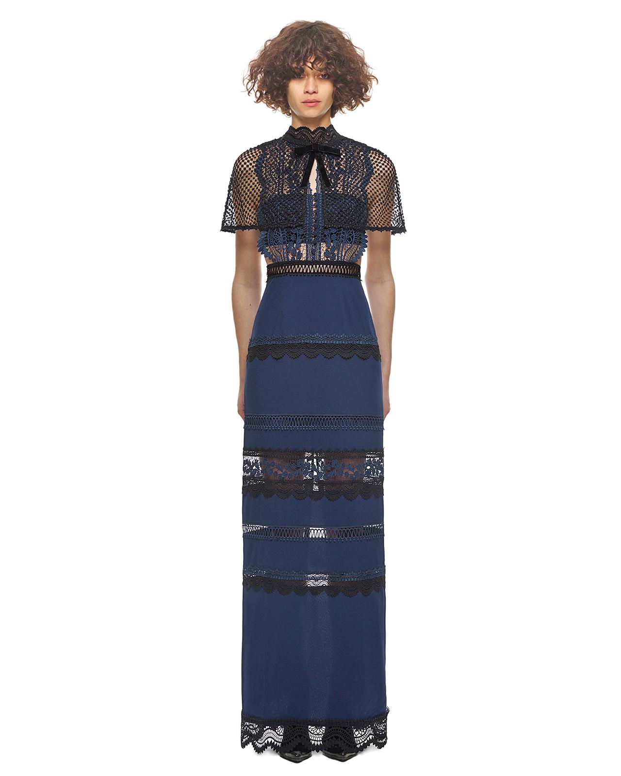 """Self-Portrait """"Bellis"""" Lace Maxi Dress"""