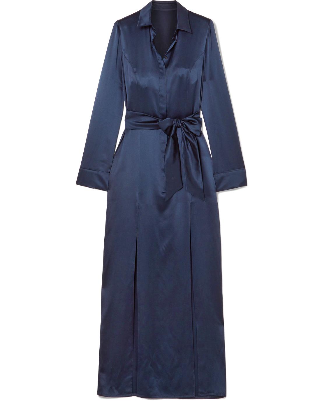 """Galvan """"Laguna"""" Silk-Satin Maxi Dress"""