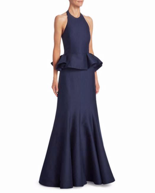 Halston Heritage Ruffled Gown