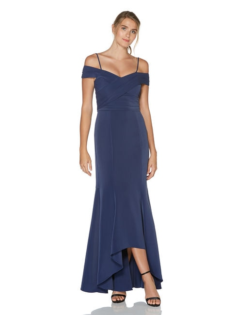 Navy Mother of the Bride Dress, Mermaid Gown by Laundry by Shelli Segal