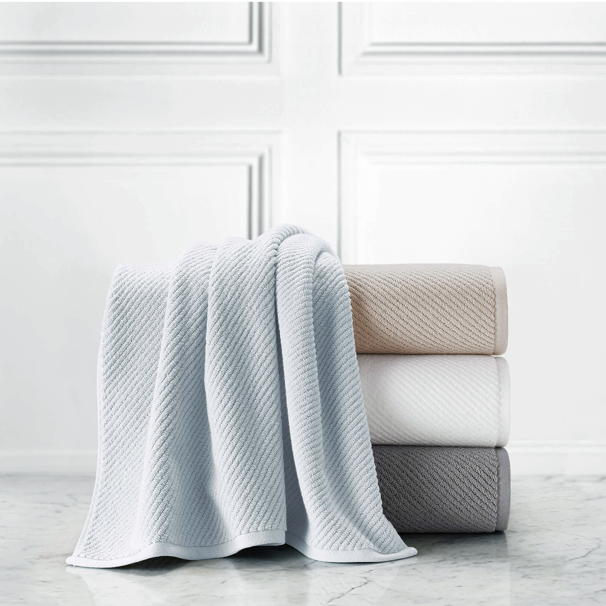 cotton anniversary gift ribbed towels