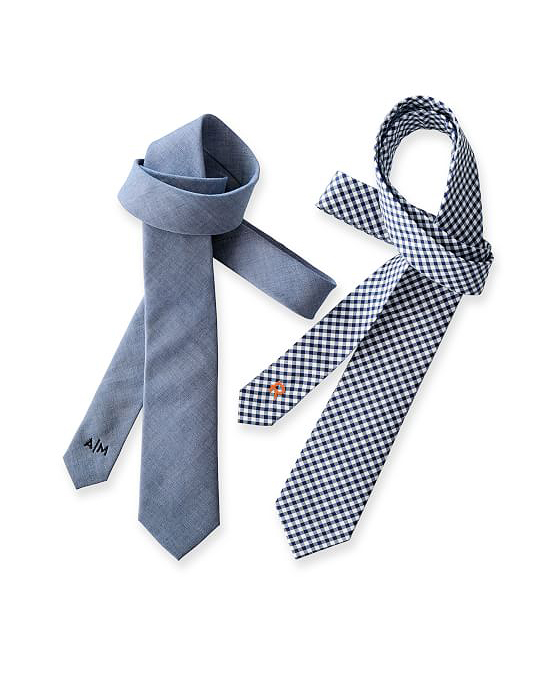 cotton anniversary blue gray ties