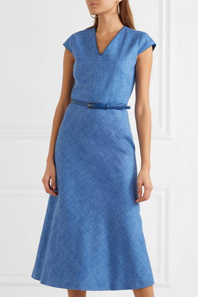 Max Mara Cap Sleeve Midi Dress