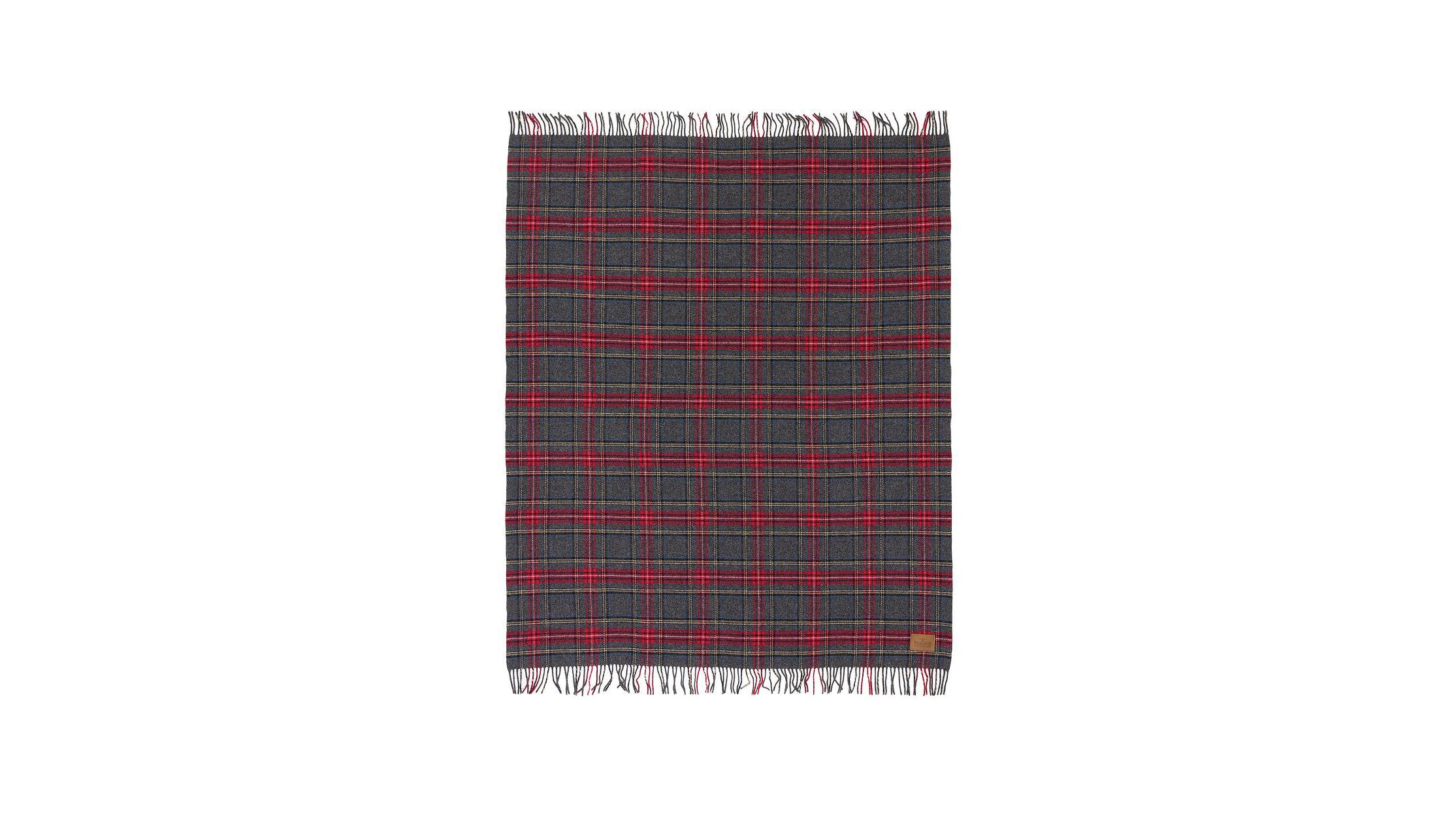 wool anniversary gift red plaid blanket