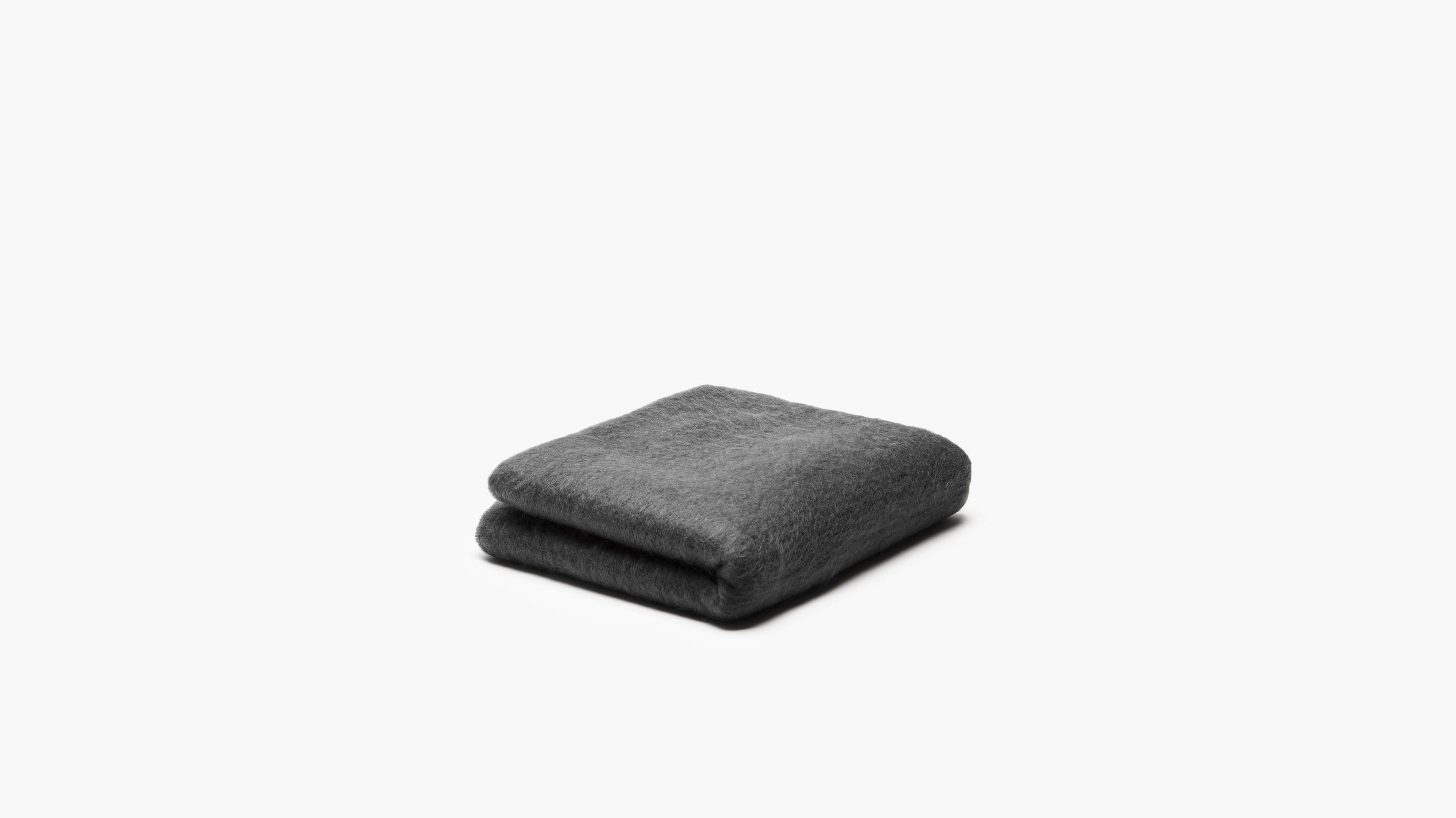 wool anniversary gift throw blanket black gray