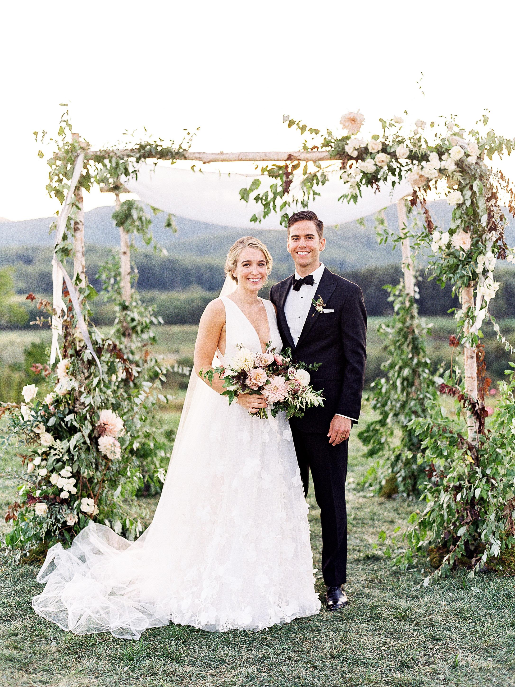 julianne aaron wedding chuppah couple