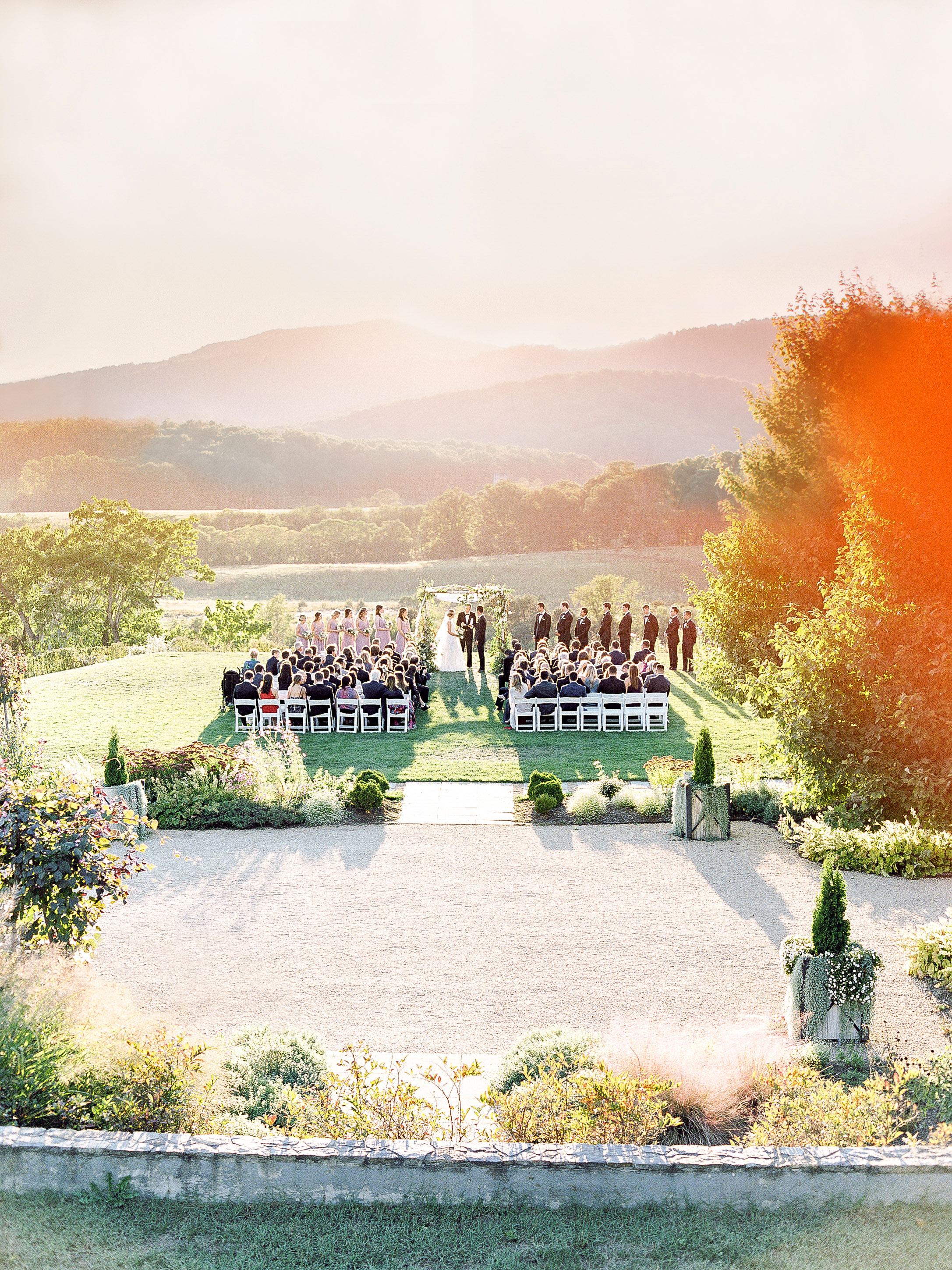 julianne aaron wedding ceremony view