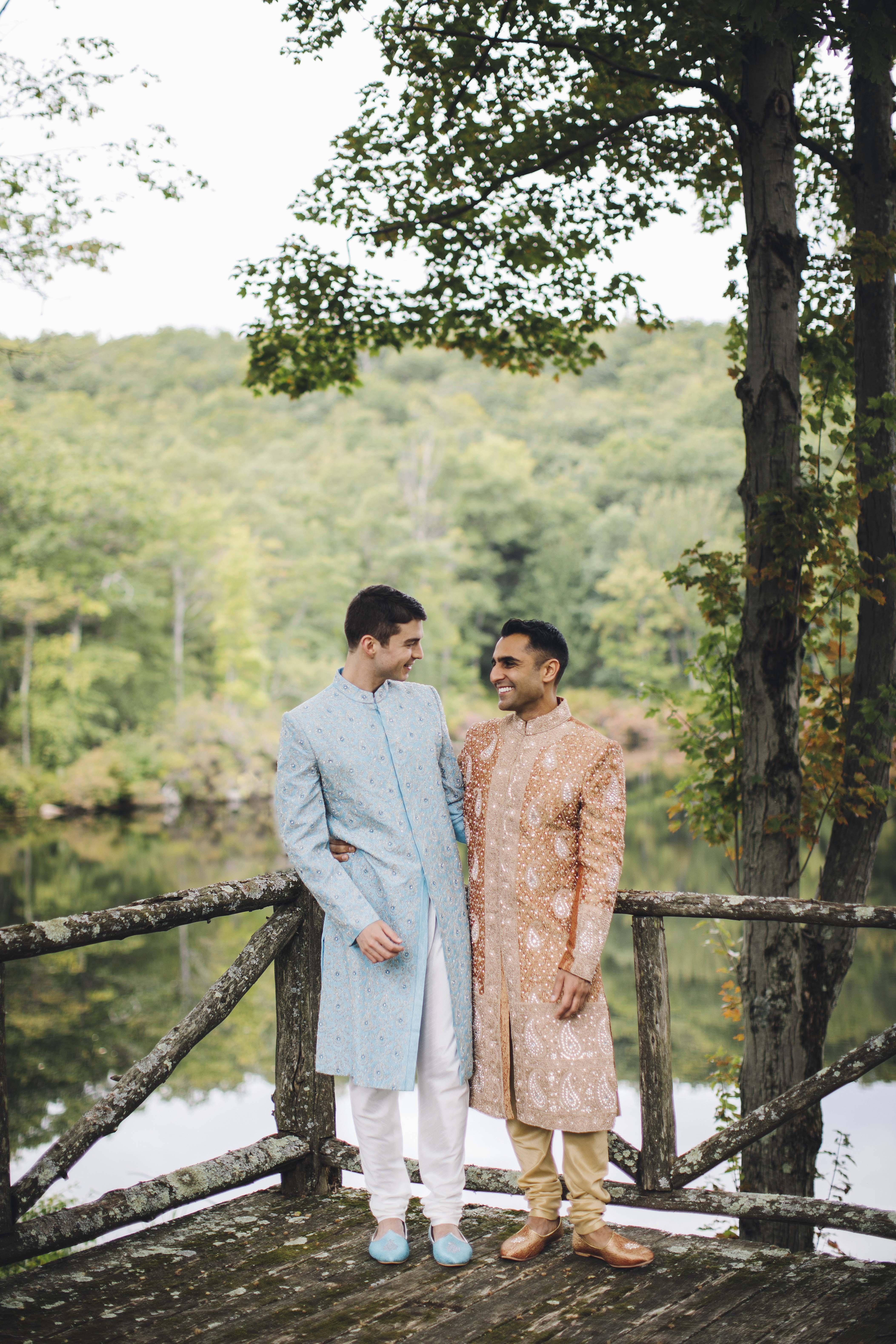 sanjay steven wedding grooms on overlook