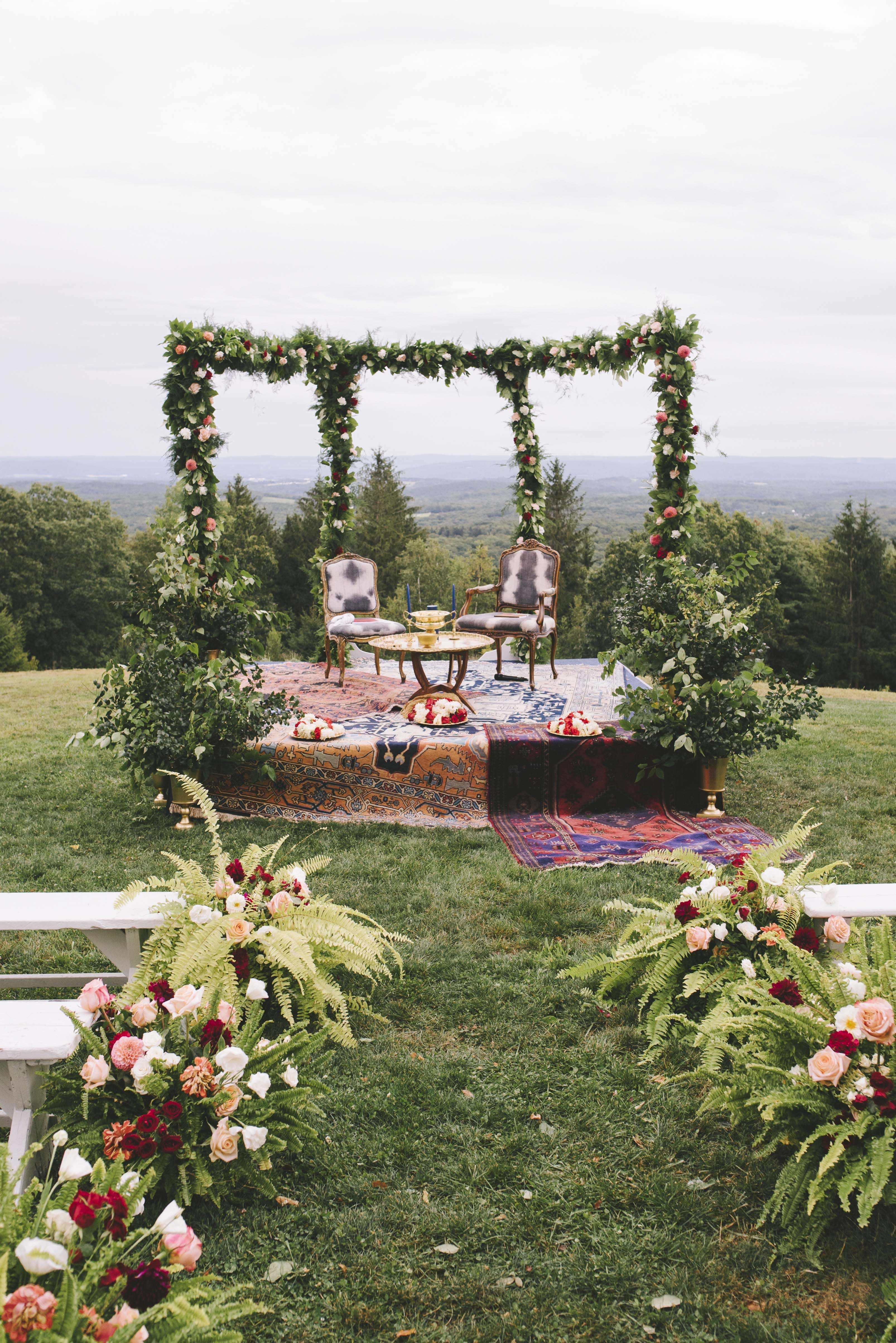 sanjay steven wedding ceremony chairs