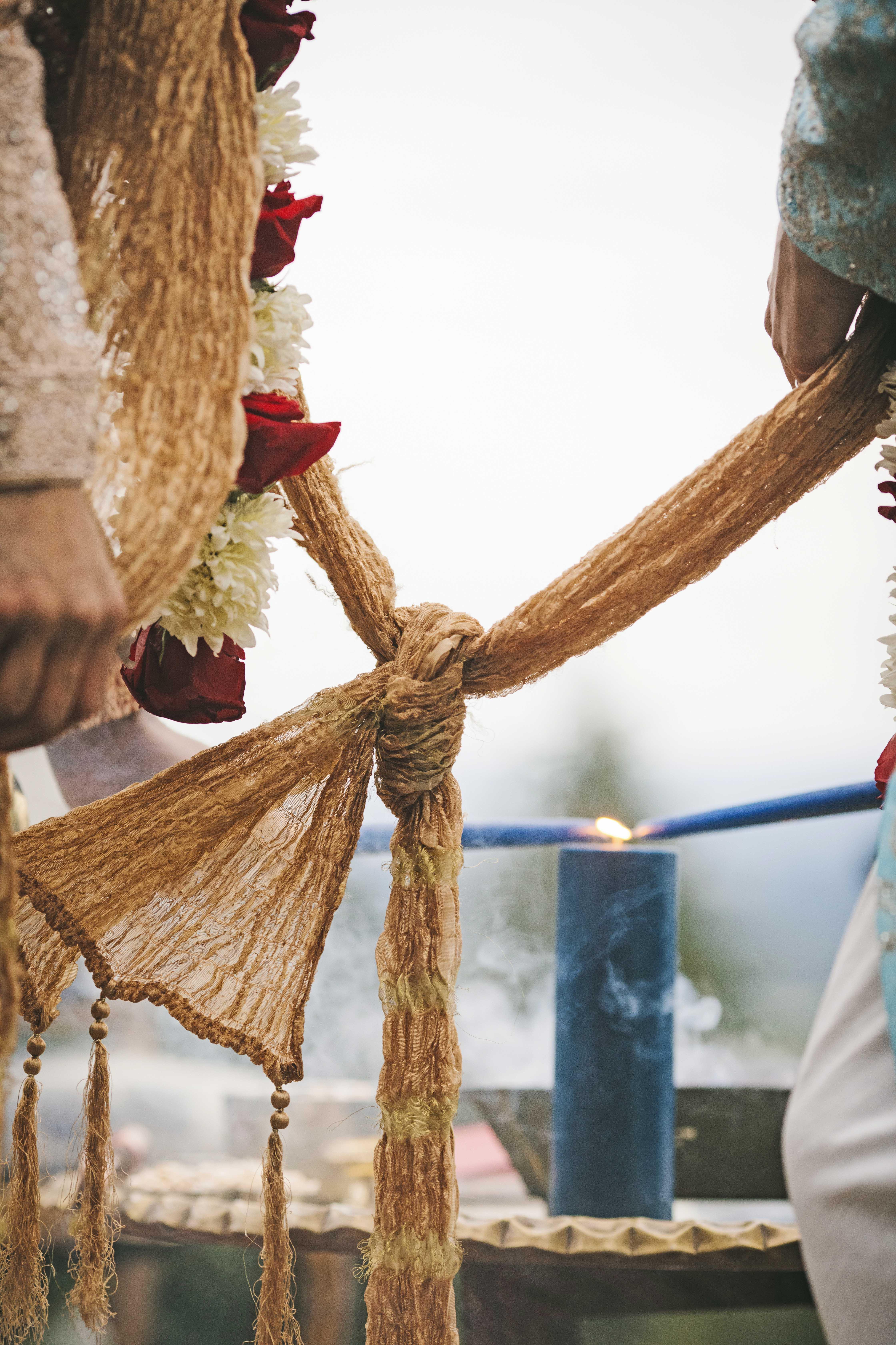 sanjay steven wedding ceremony knot