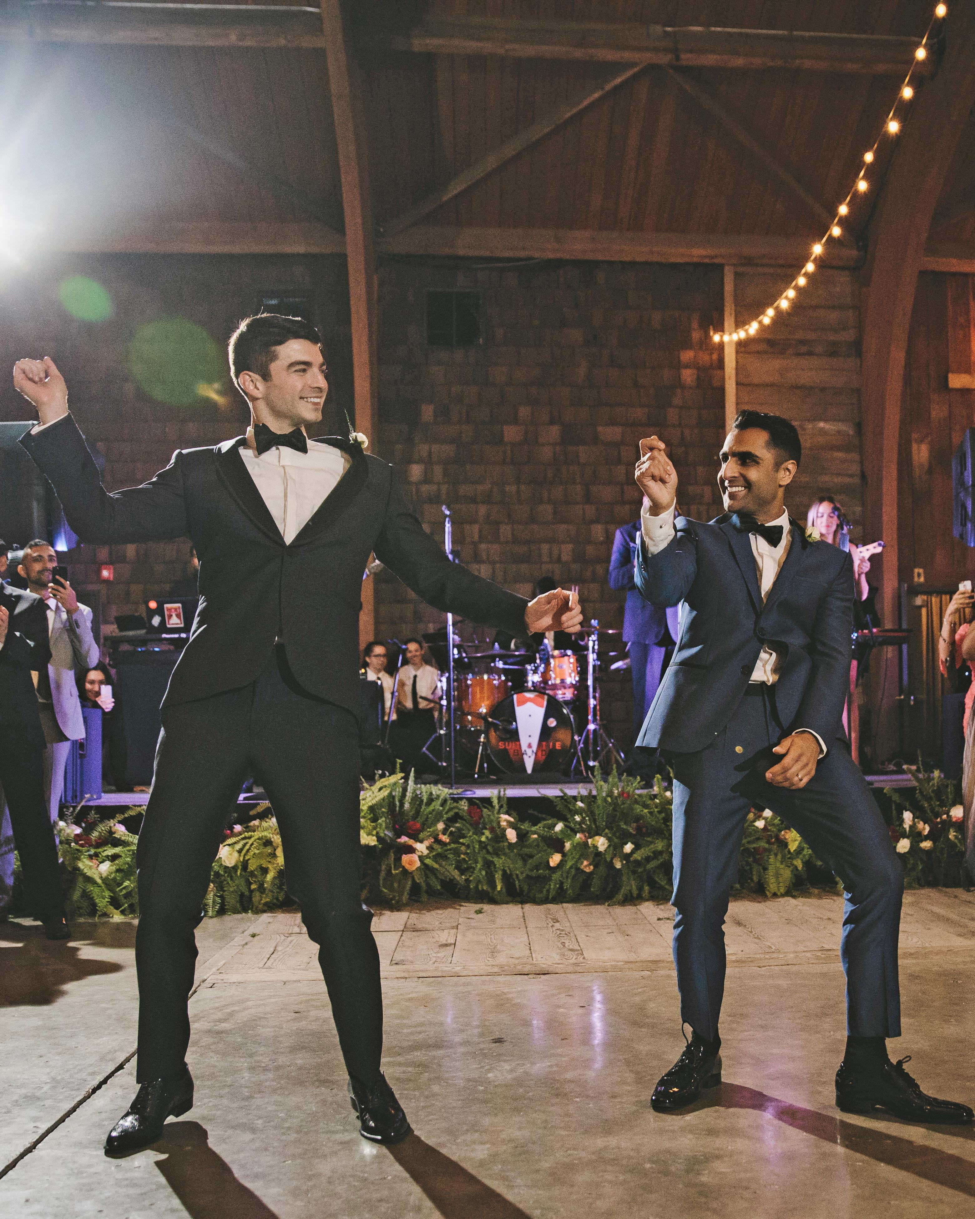 sanjay steven wedding dancing
