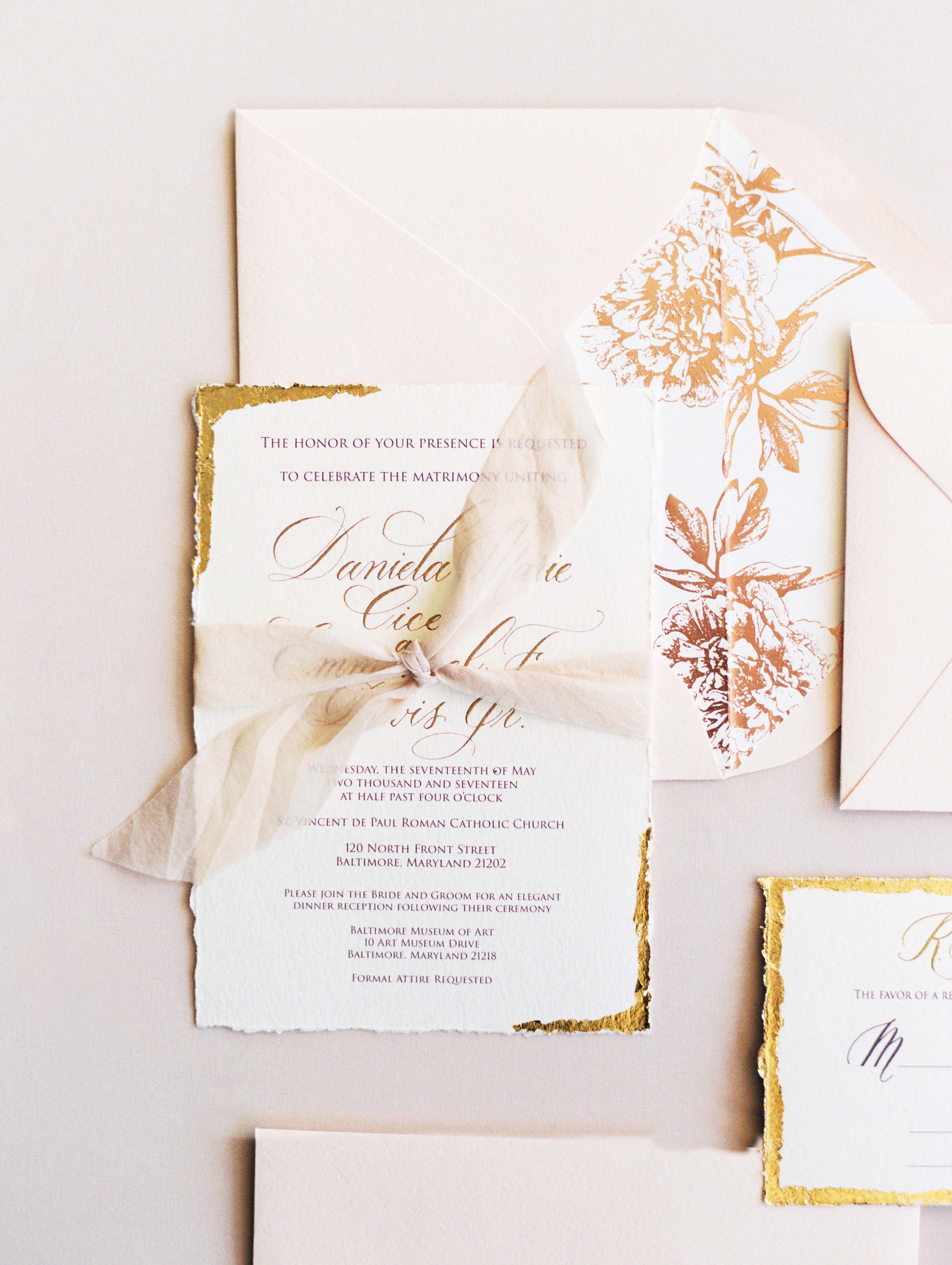 daniela emmanuel wedding maryland stationery