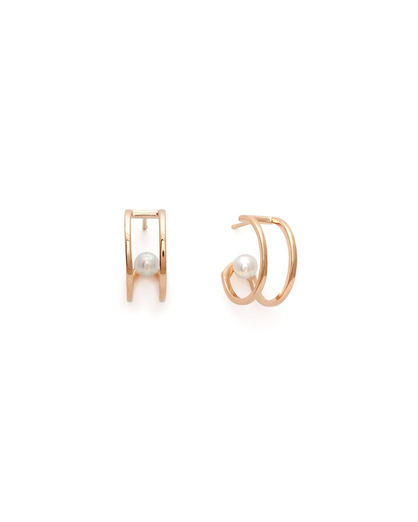 pearl wedding earrings anna sheffield hoop