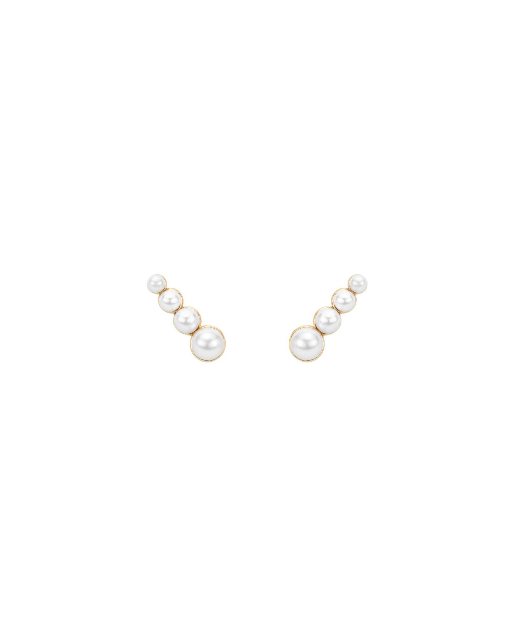 pearl wedding earrings hortense 4 pearls