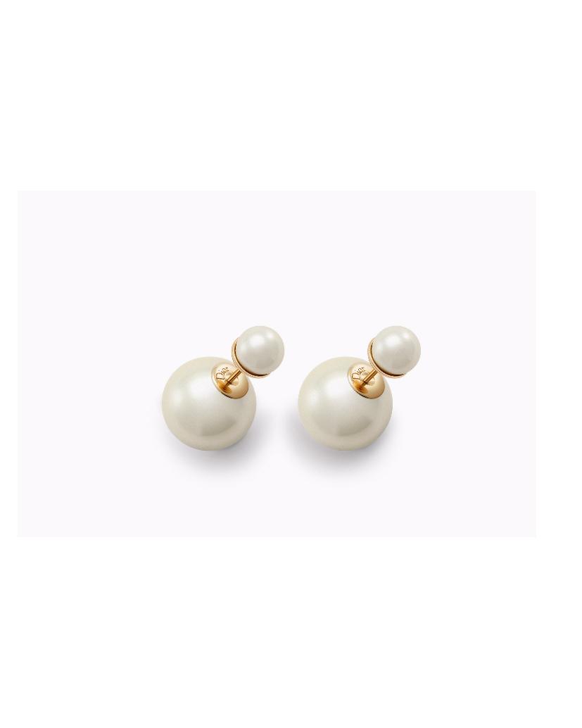 pearl wedding earrings dior