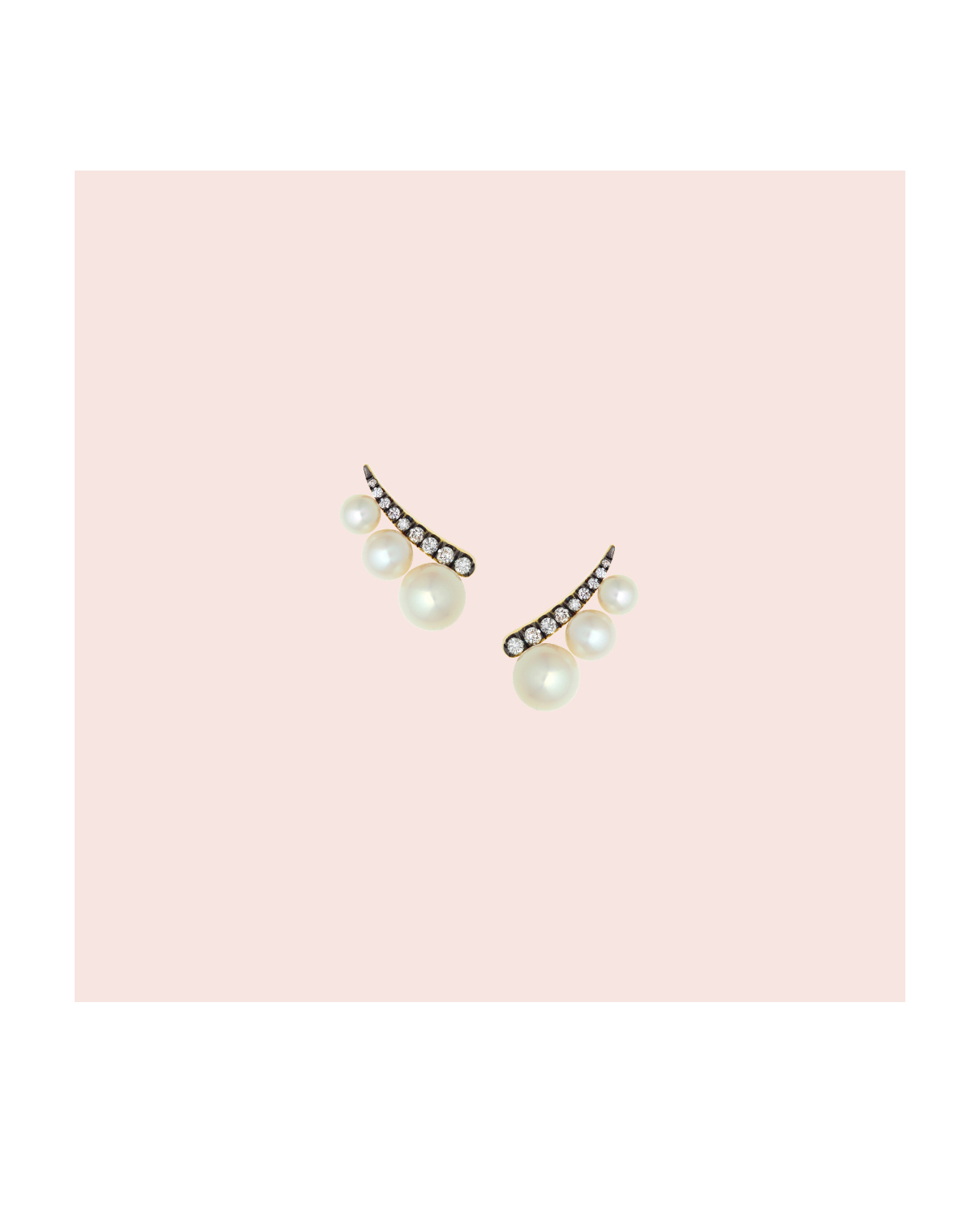 pearl wedding earrings jemma wynne diamond