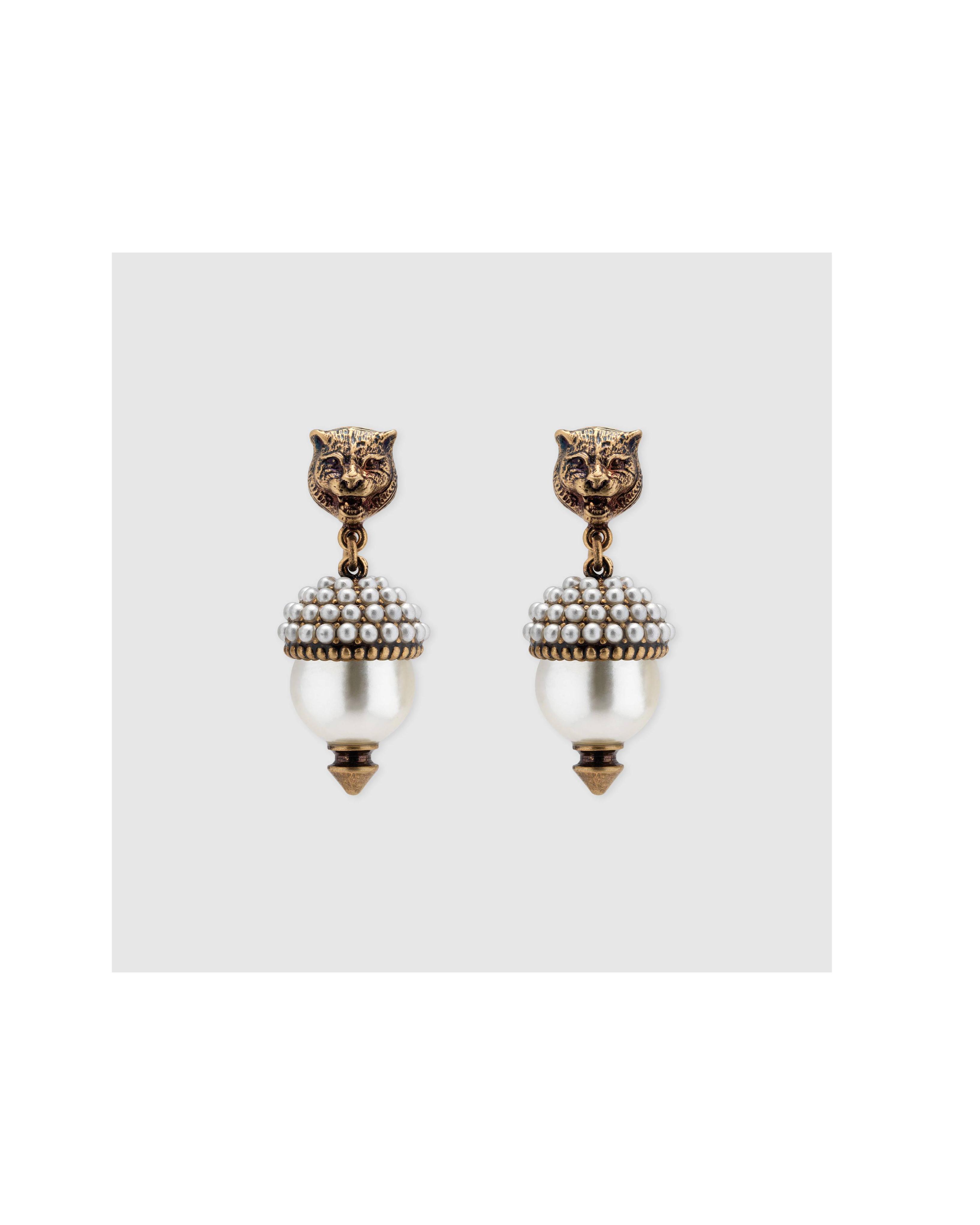 pearl wedding earrings gucci