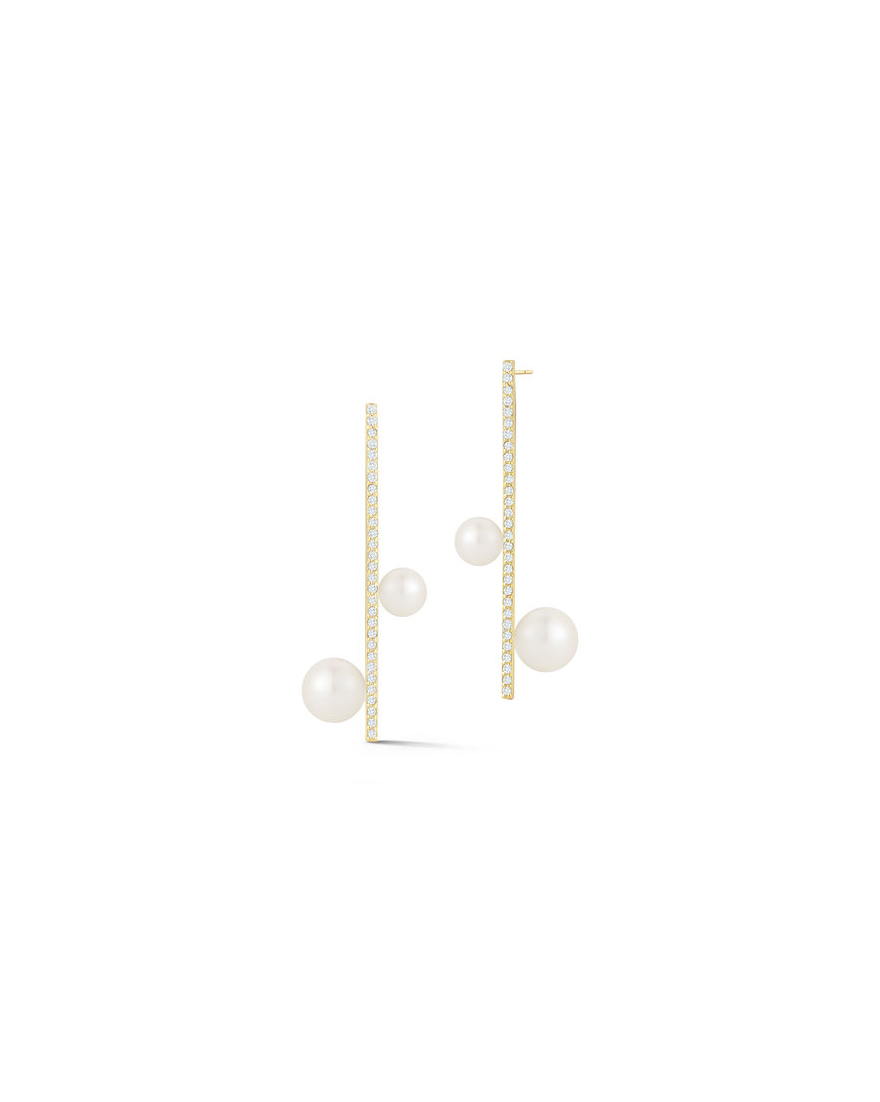 pearl wedding earrings mateo new york diamond bar