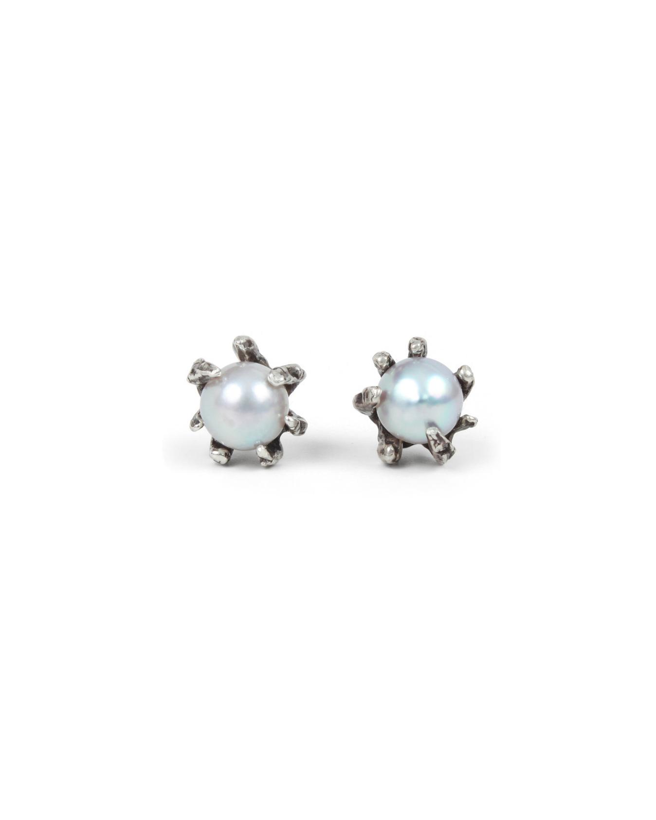 pearl wedding earrings lauren wolf grey claw
