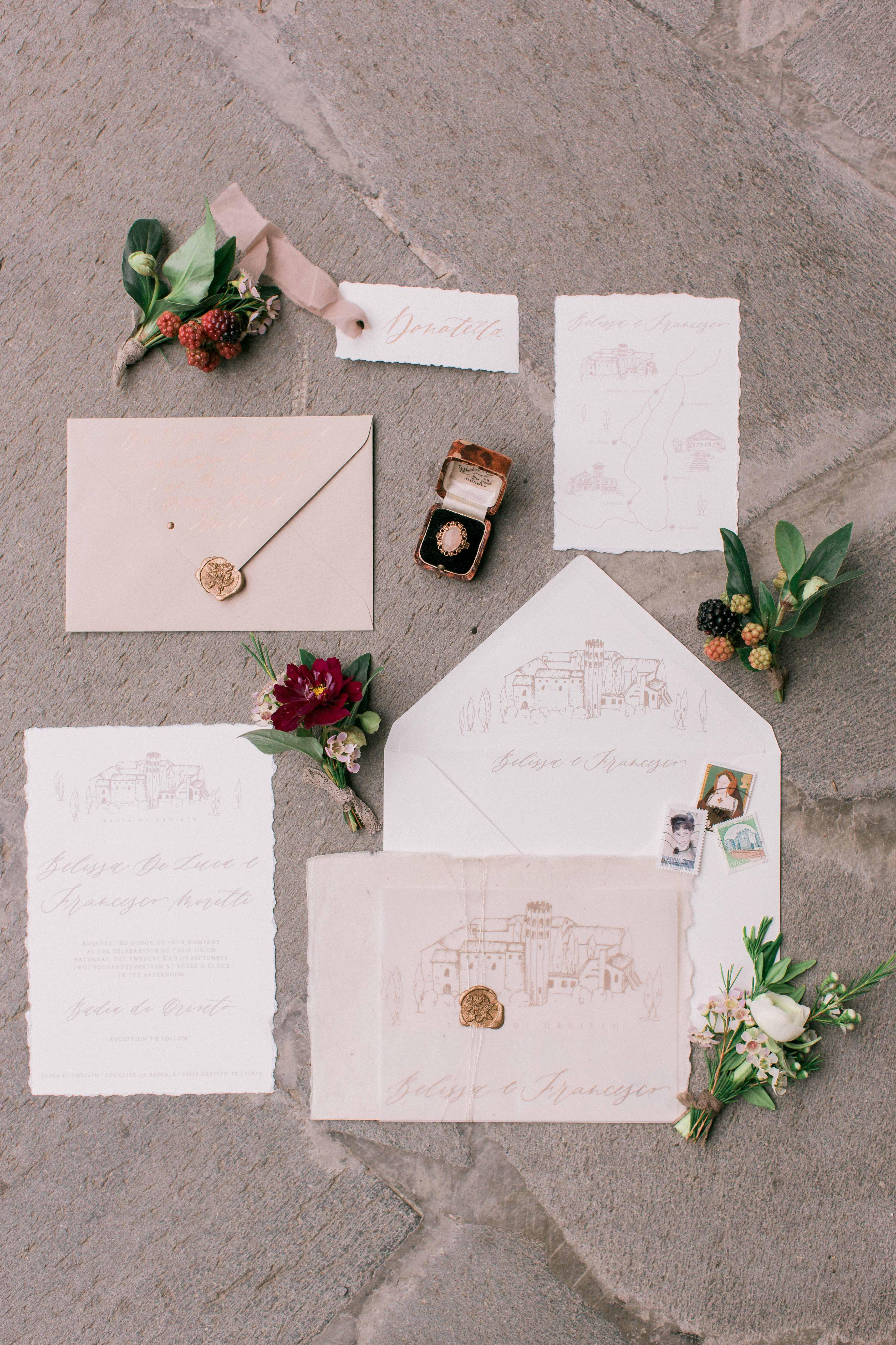 deckle edge invitations koman photography