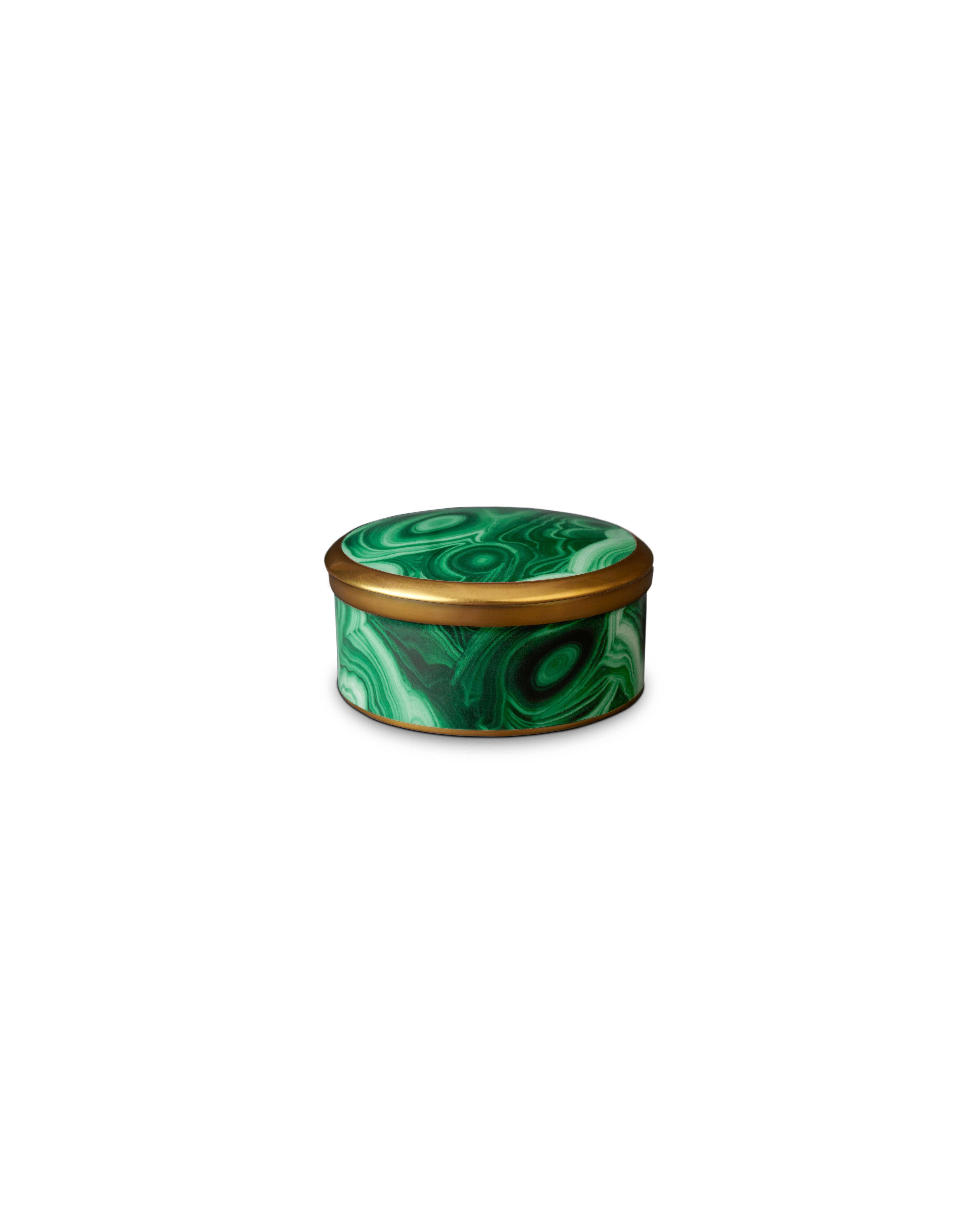hollowware anniversary gifts malachite round box lobjet