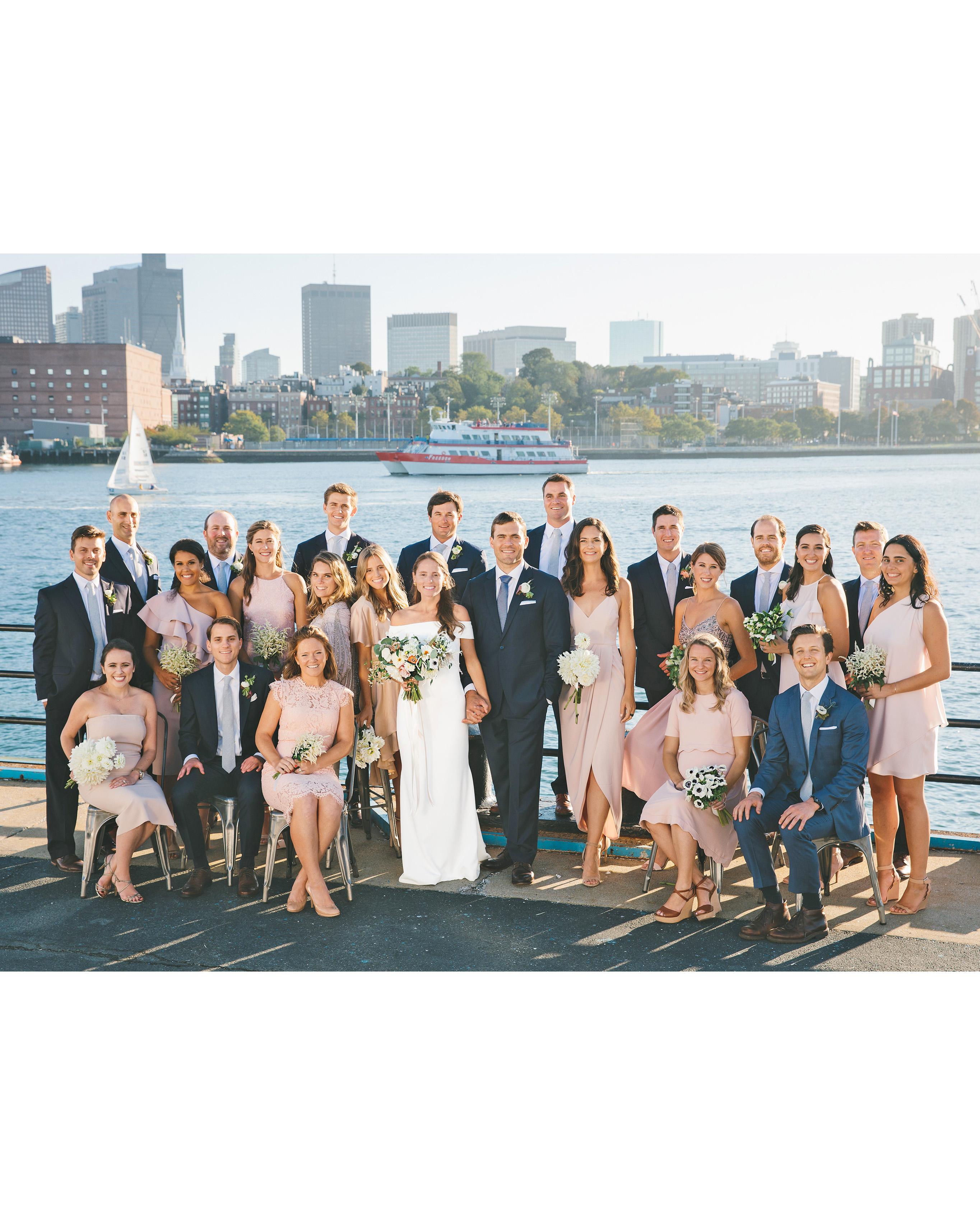 laura john wedding massachusetts wedding party