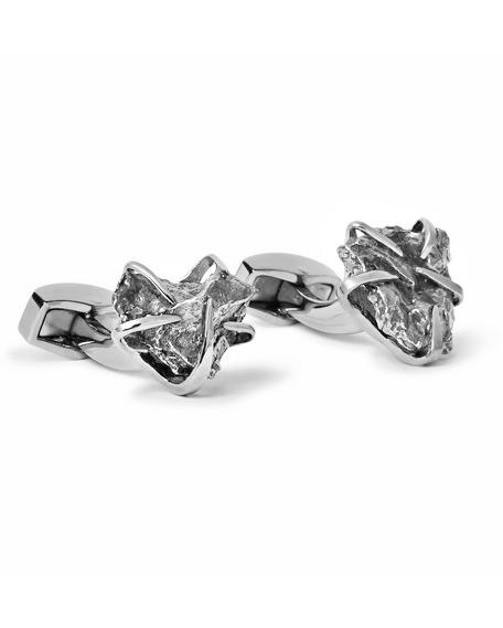 iron anniversary gifts meteorite cufflinks tateossian