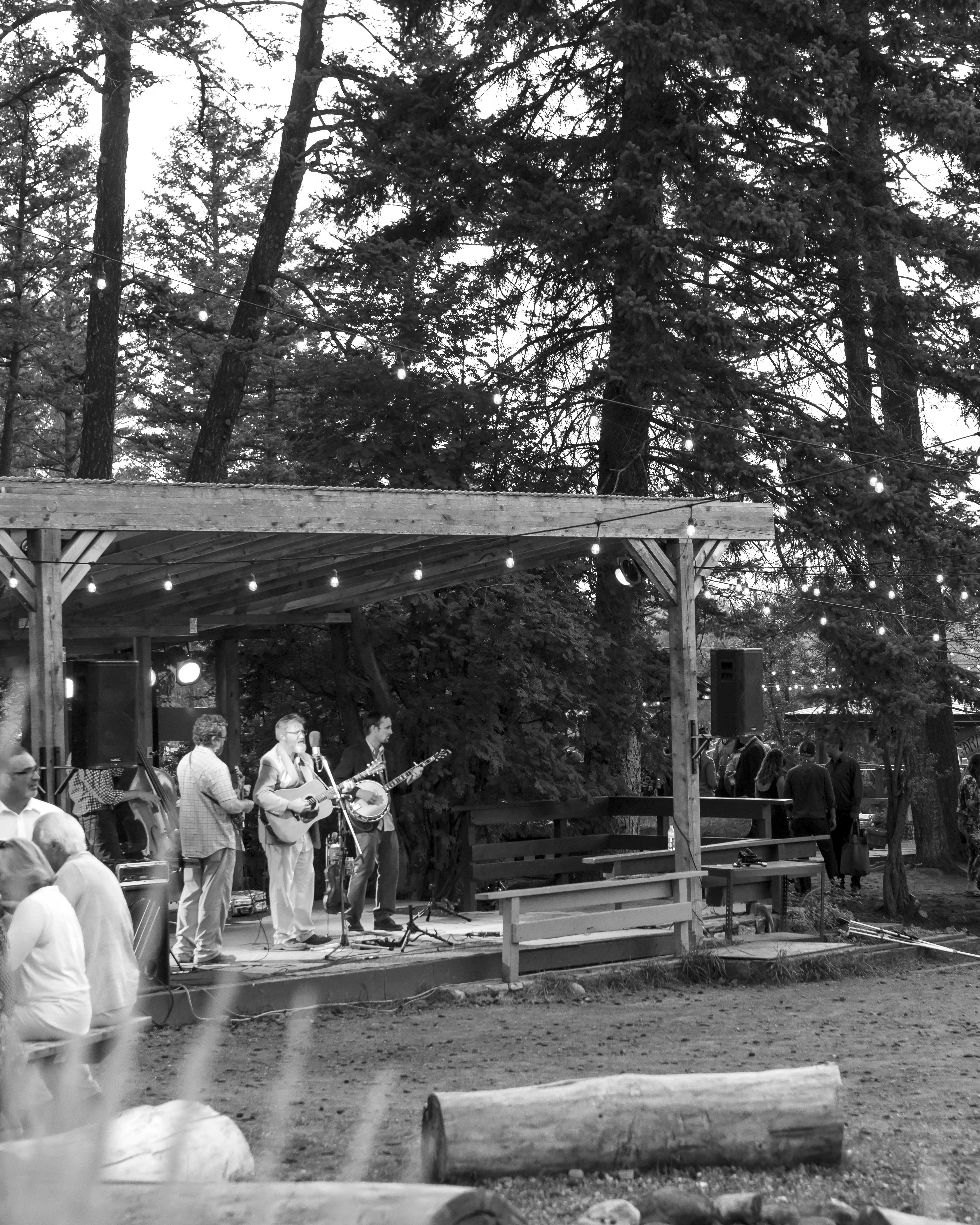band playing outdoor
