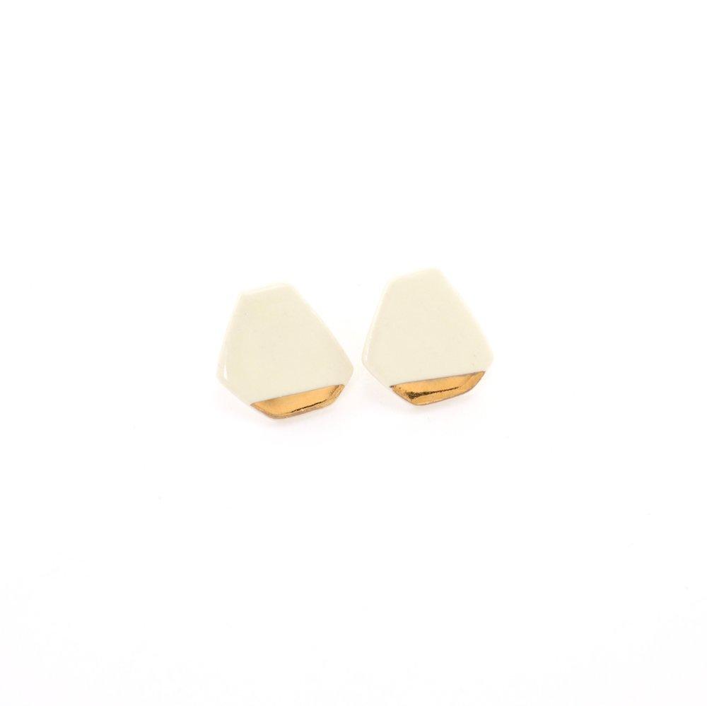 porcelain geometric earrings