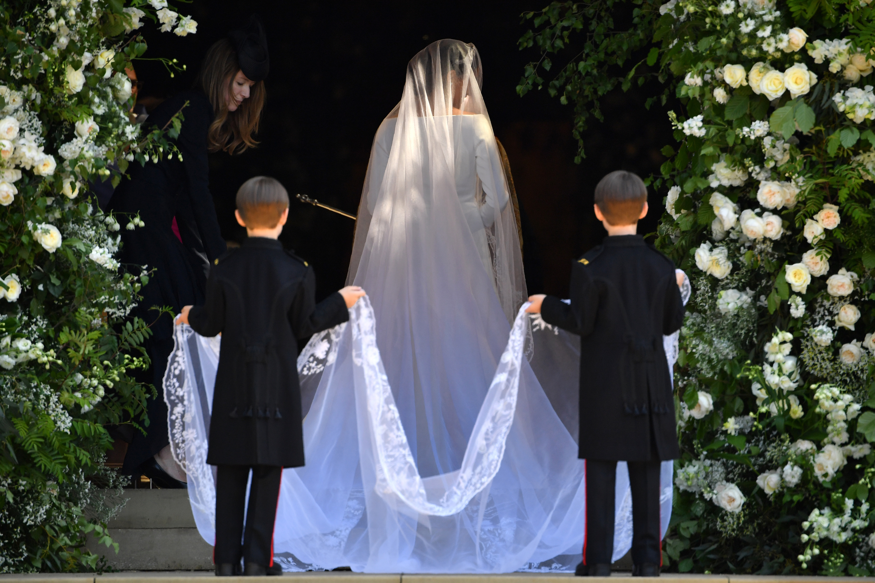 Meghan Markle and page boys royal wedding 2018