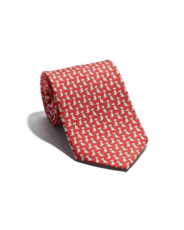 red silk dog tie