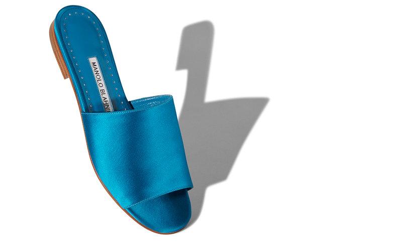 blue silk shoe