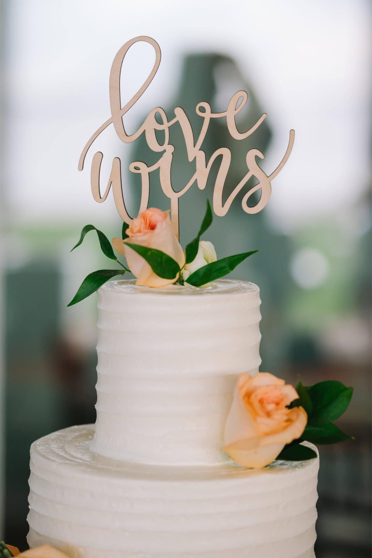 Love Wins Wedding Cake Topper