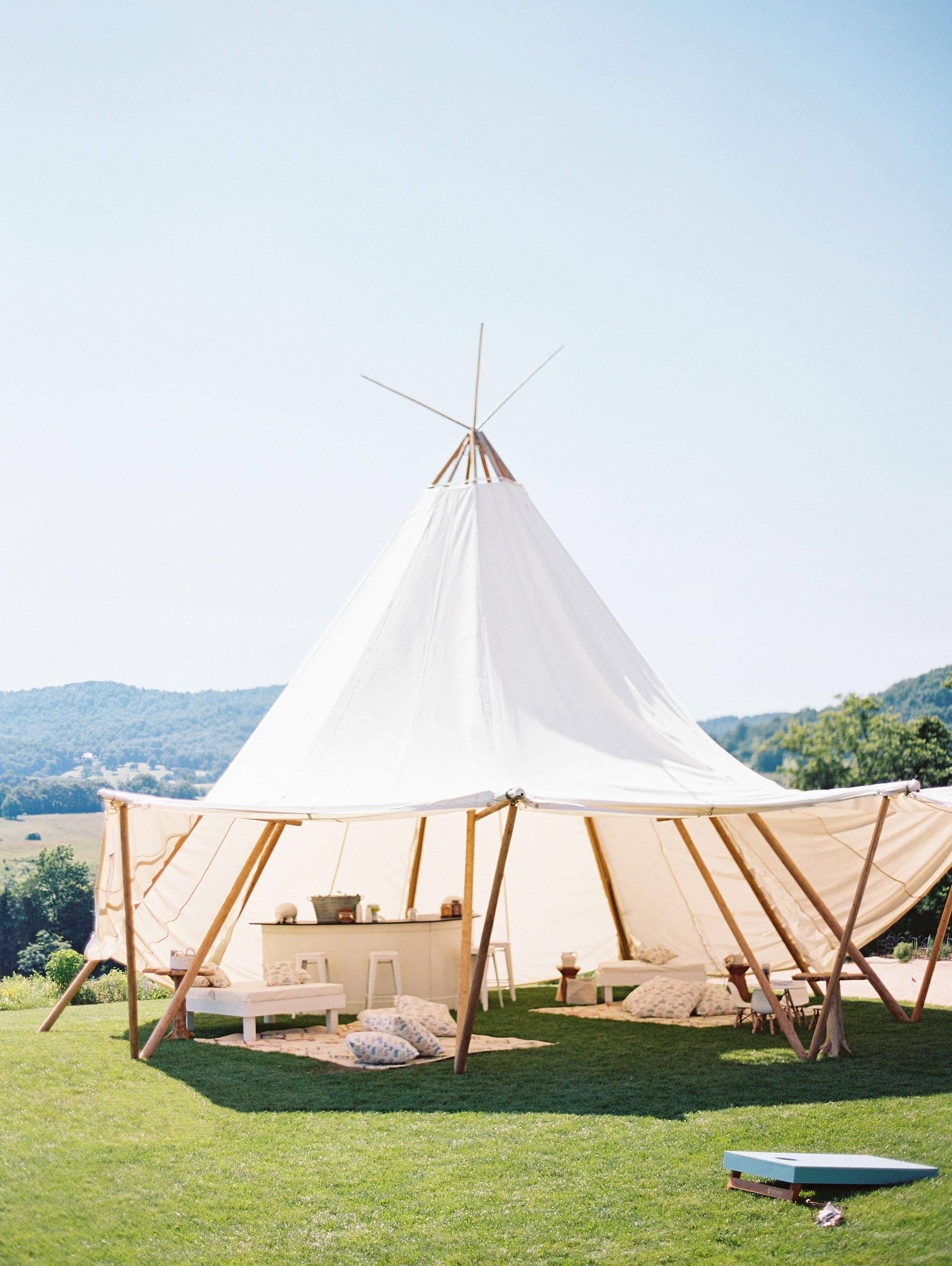hannah chris wedding north garden va teepee