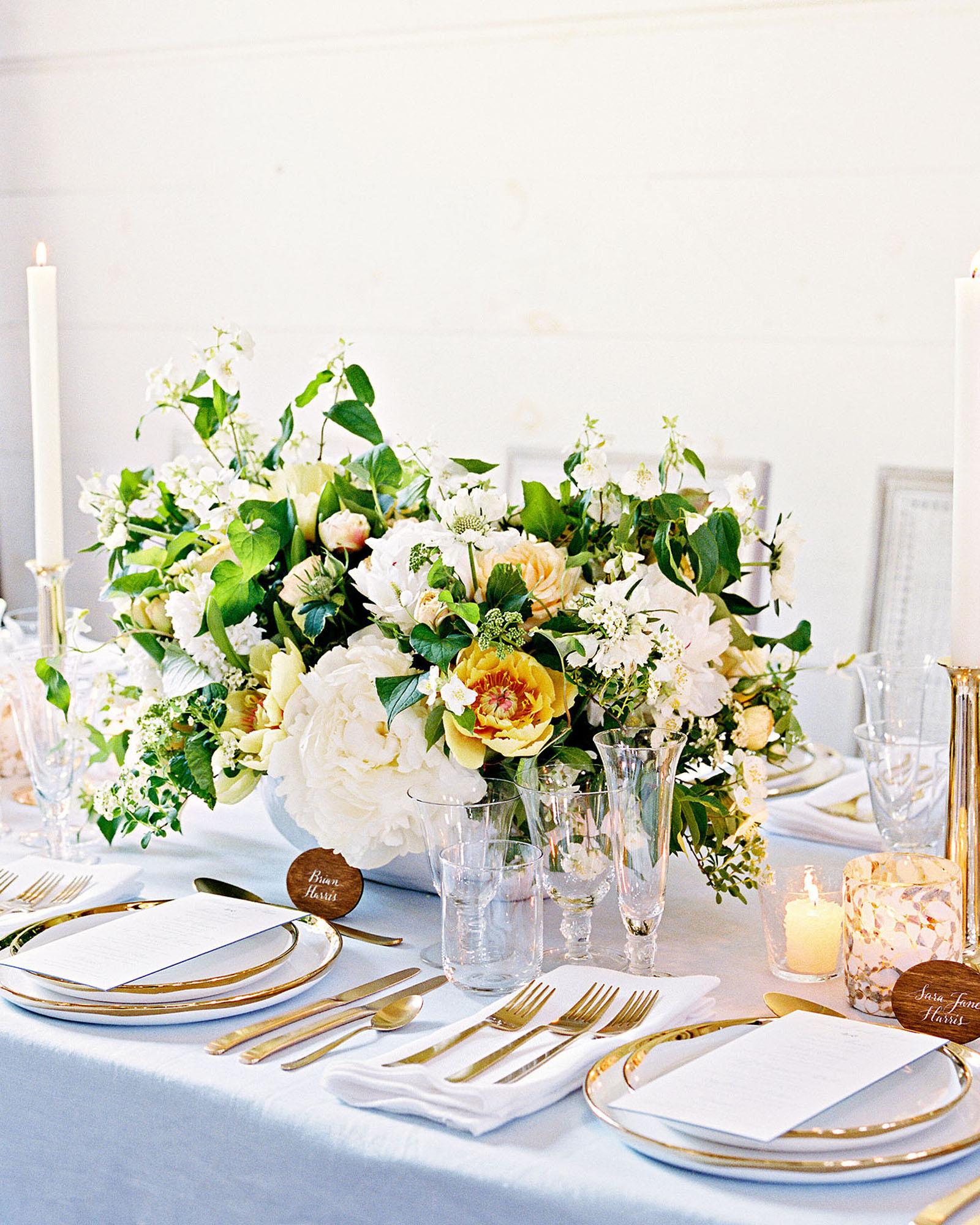 hannah chris wedding north garden va table setting