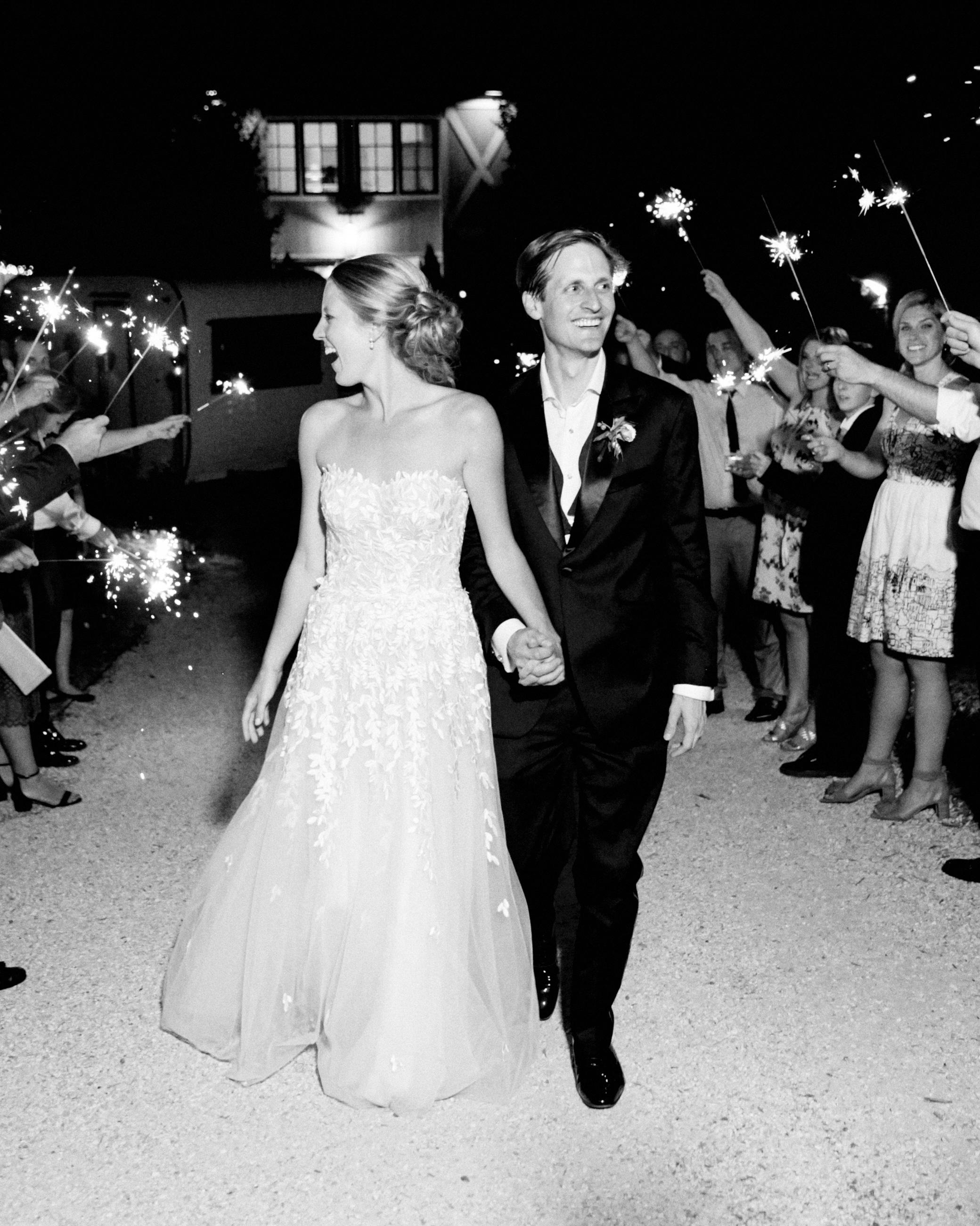 hannah chris wedding north garden va sparklers