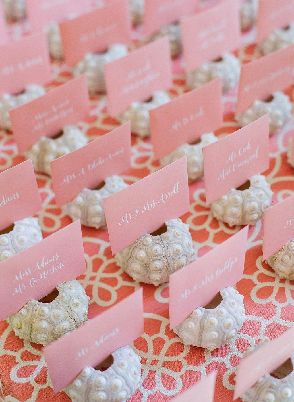 Beach Wedding Shower Table Cards