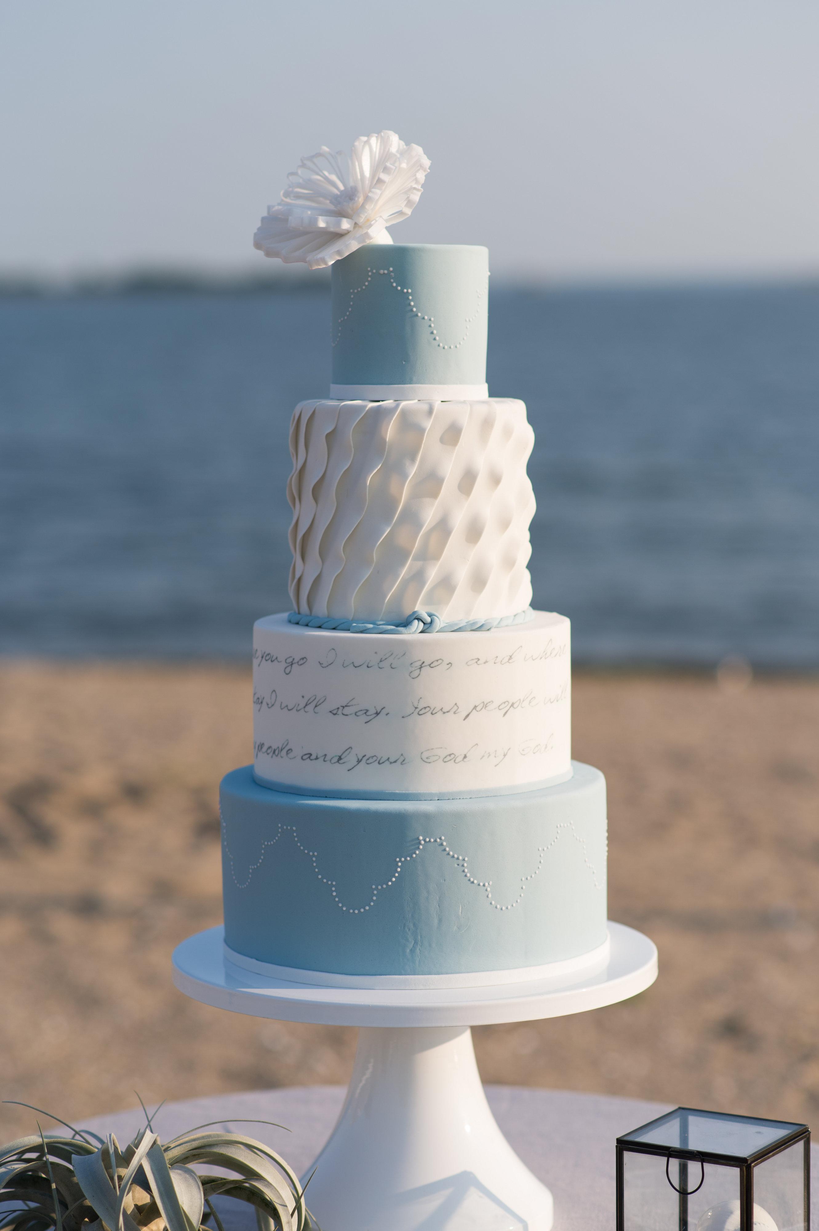 Beach Wedding Shower Cake Inspiration