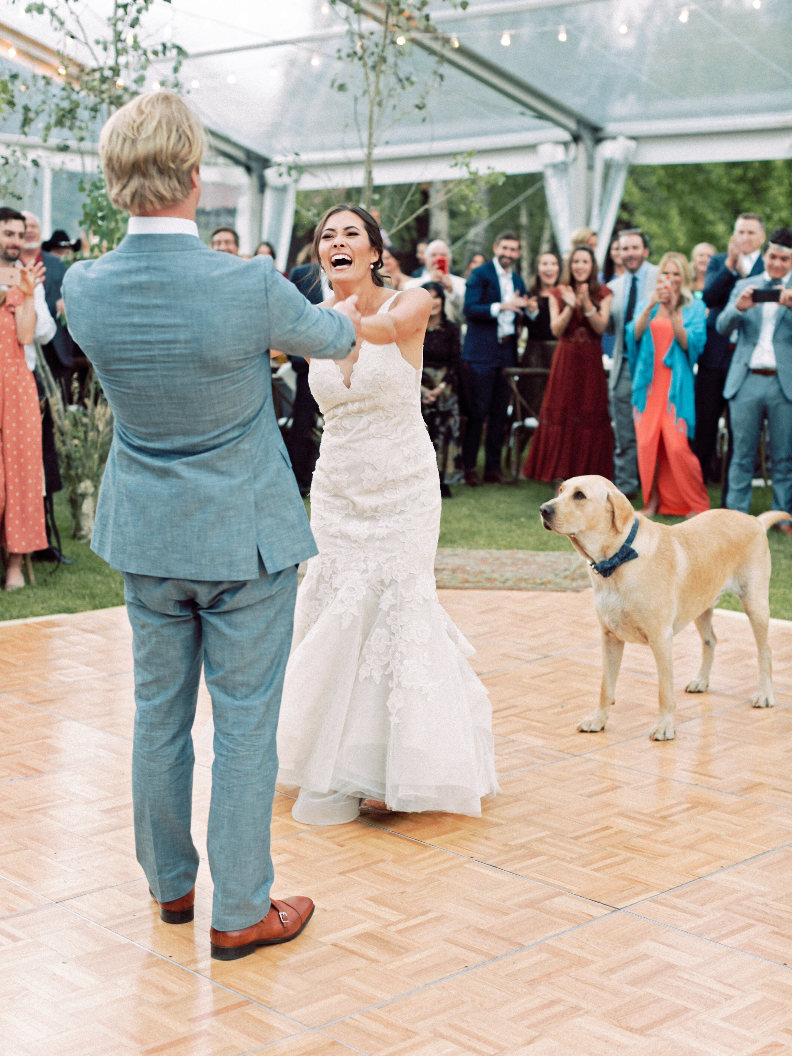 margaux patrick wedding first dance with dog