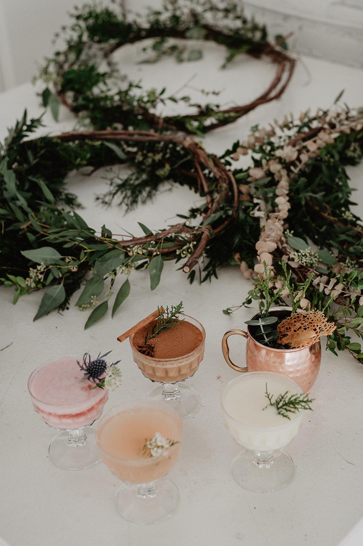 winter bridal shower shoot julia garcia cocktails